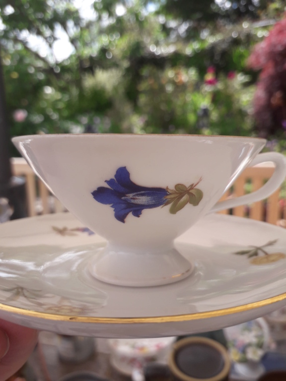 Conical cup and saucer - gold crown and CS mark - any ideas ? 20210615