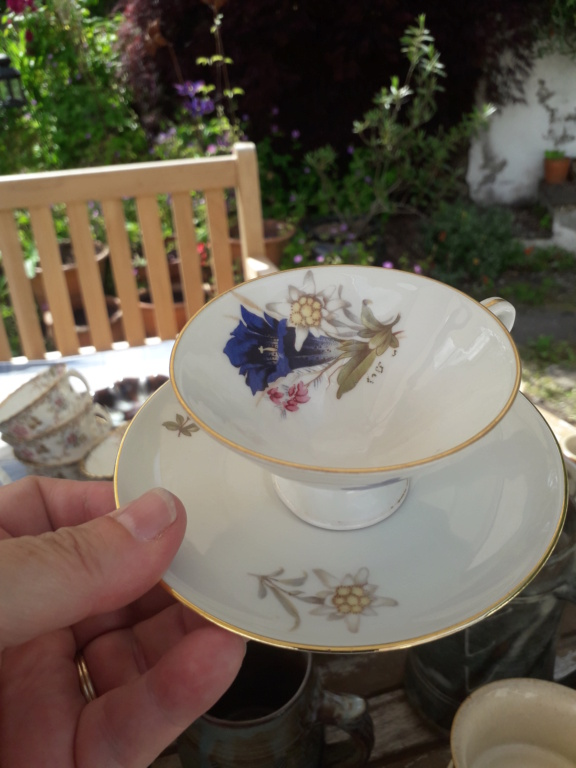 Conical cup and saucer - gold crown and CS mark - any ideas ? 20210617