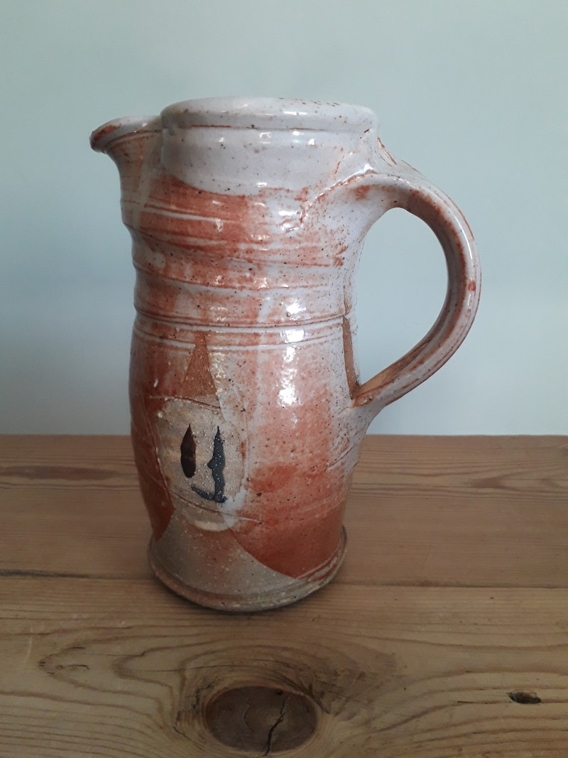 Rustic studio jug (coiled?) with ambiguous mark - LH? CH? HF? Jug_si12