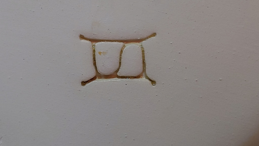 Help id pottery mark on hand painted serving platter french or Hungarian ma 20190610