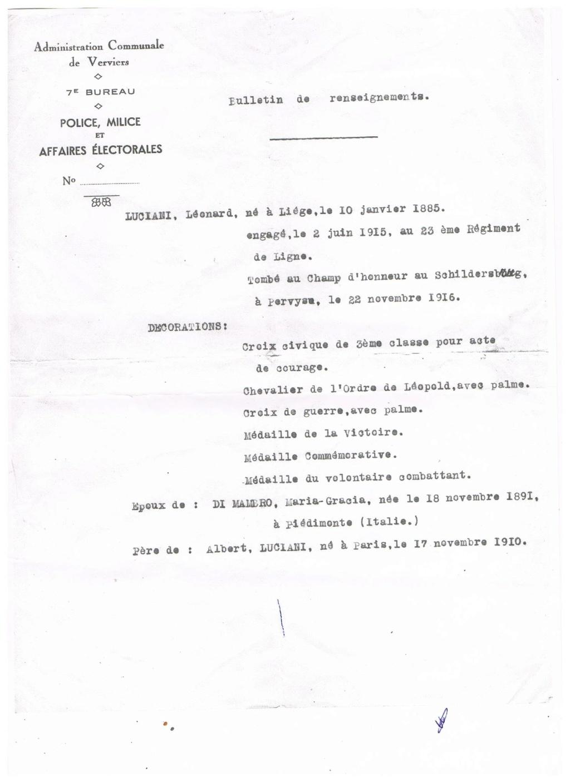 bulletin de renseignement de Léonard Luciani 00811