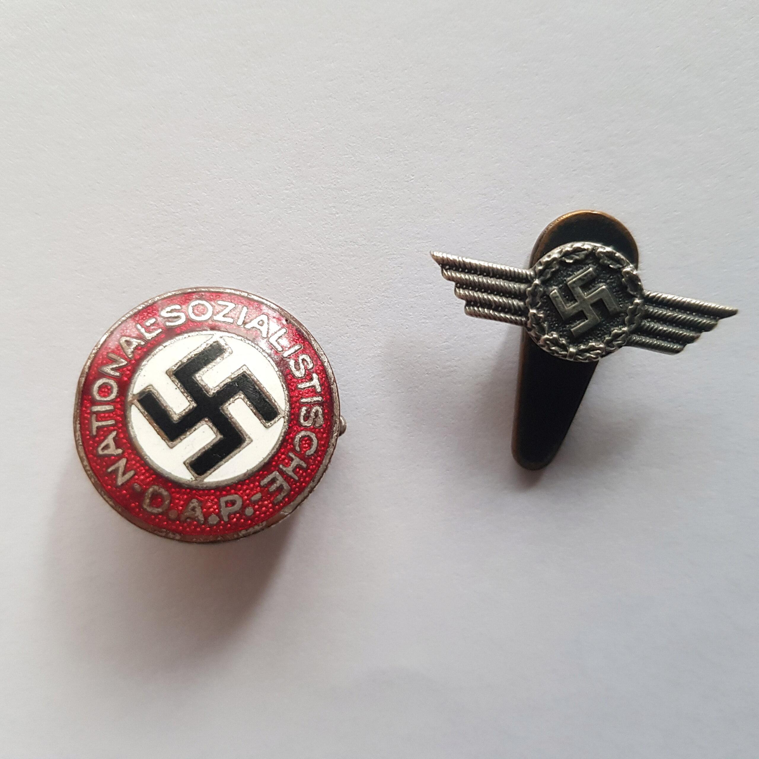 Badge NSDAP + Insigne de veston 20201211