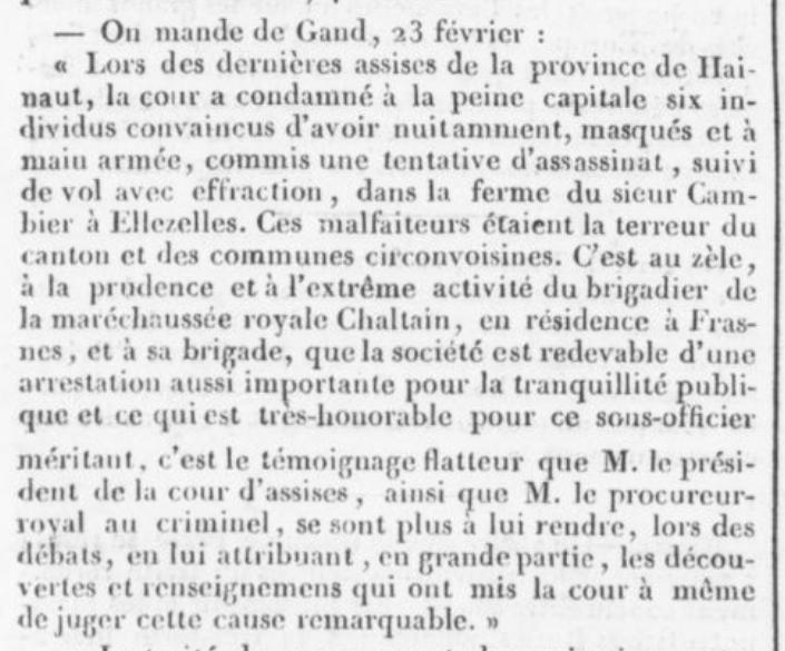 Exécutions en Belgique (1796-1863) Renaix10