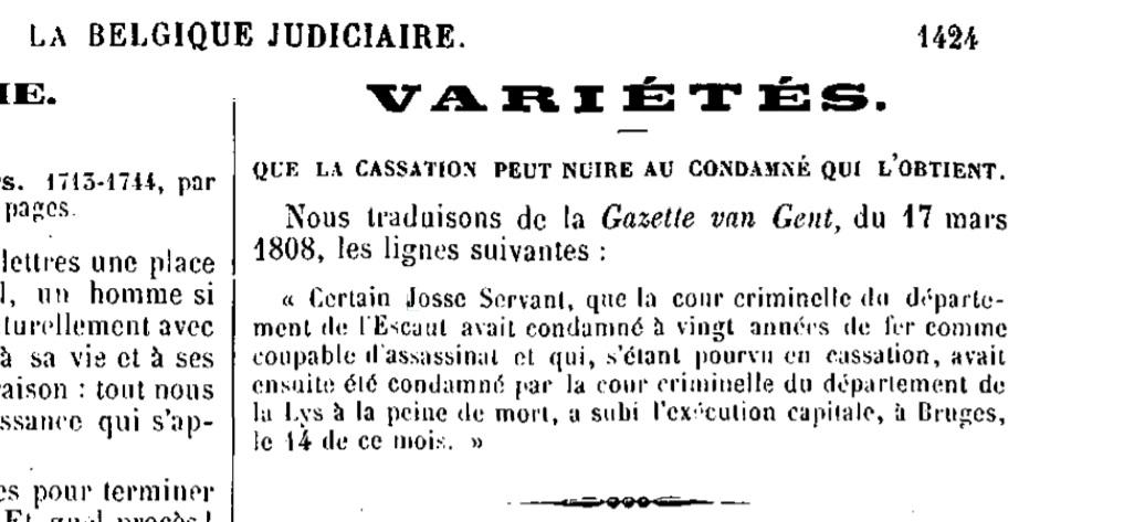 Exécutions en Belgique (1796-1863) Servan10