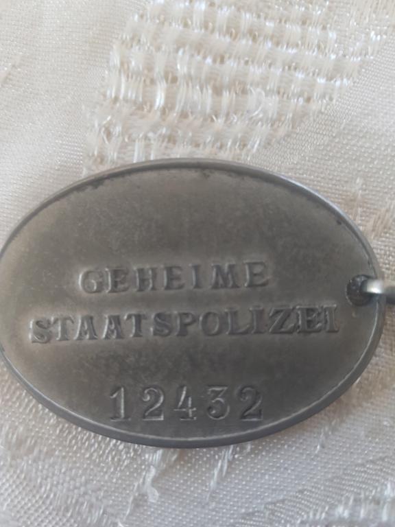 Plaque Police Allemande 20200412