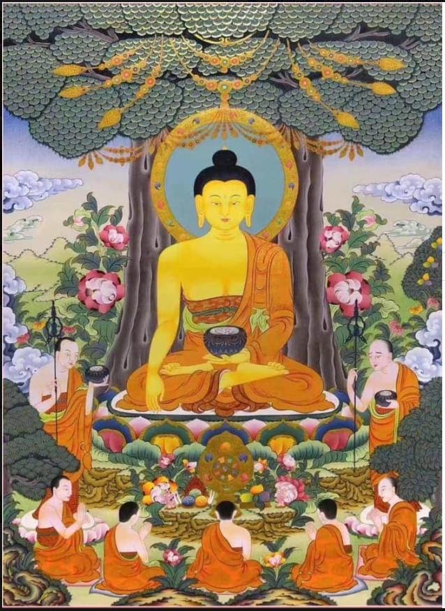 Choekhor Duchen, le festival où les bouddhistes commémorent le premier enseignement que le Bouddha Shakyamuni a donné après avoir atteint l'illumination. Annota11