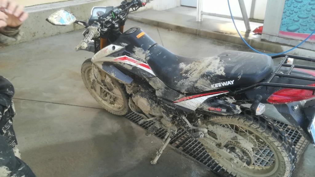 Tx125 s: cuando dejas la moto al hijo Kw125t11