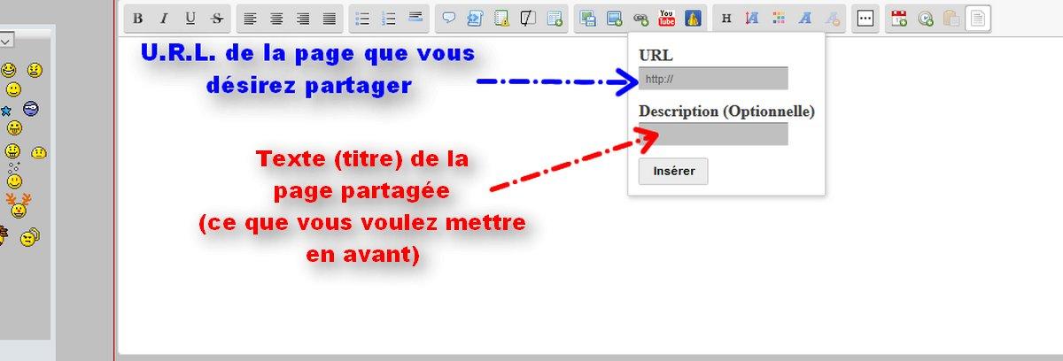 Tuto: Insérer un lien cliquable et apparent dans un post Lien-210