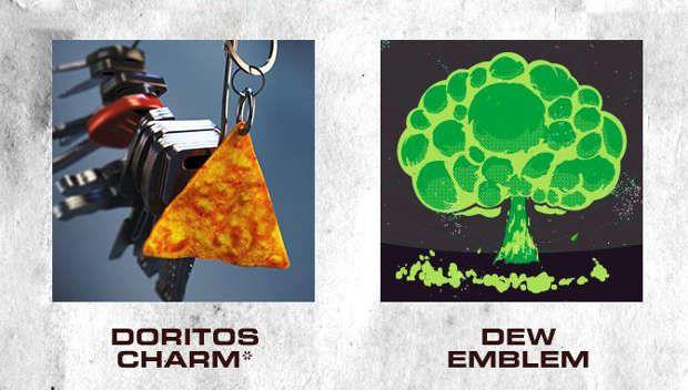 Porte-clés Doritos et emblème Mountain Dew J03xt510