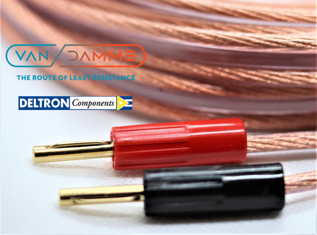 Van Damme Hifi Series Speaker Cable 2.5mm with Deltron Banana plugs 1_logo10