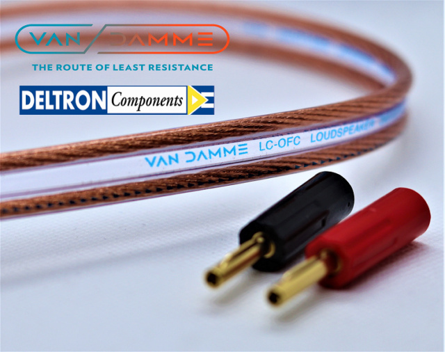 Van Damme Hifi Series Speaker Cable 2.5mm with Deltron Banana plugs 4_logo10