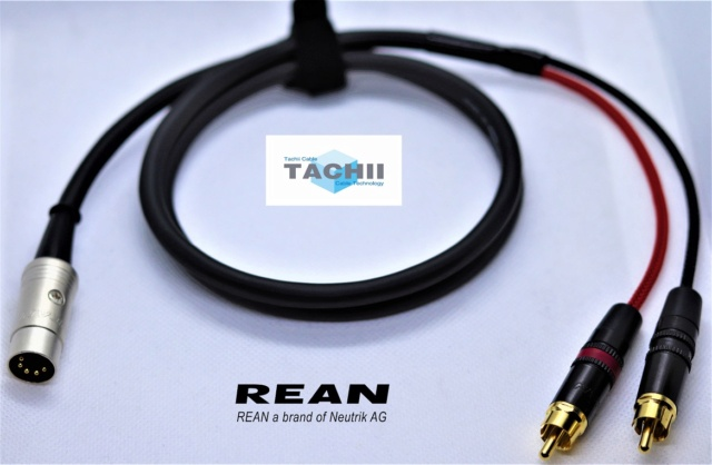 Tachii RCA to 5pin DIN cable for Naim equipment, REAN connectors Img_3814