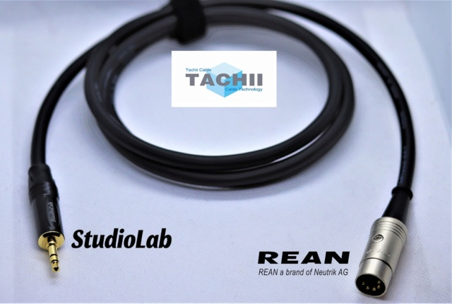 Tachii 3.5mm to 5pin DIN cable for Naim equipment, REAN / Studiolab connectors Img_3823