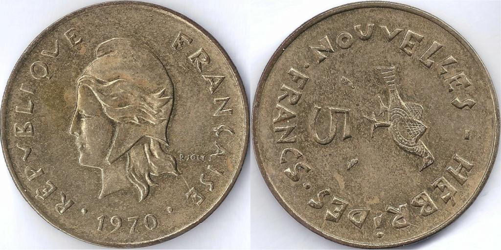 NUEVAS HÉBRIDAS. KM 6.1. 1970. 5 FRANC Km_00610