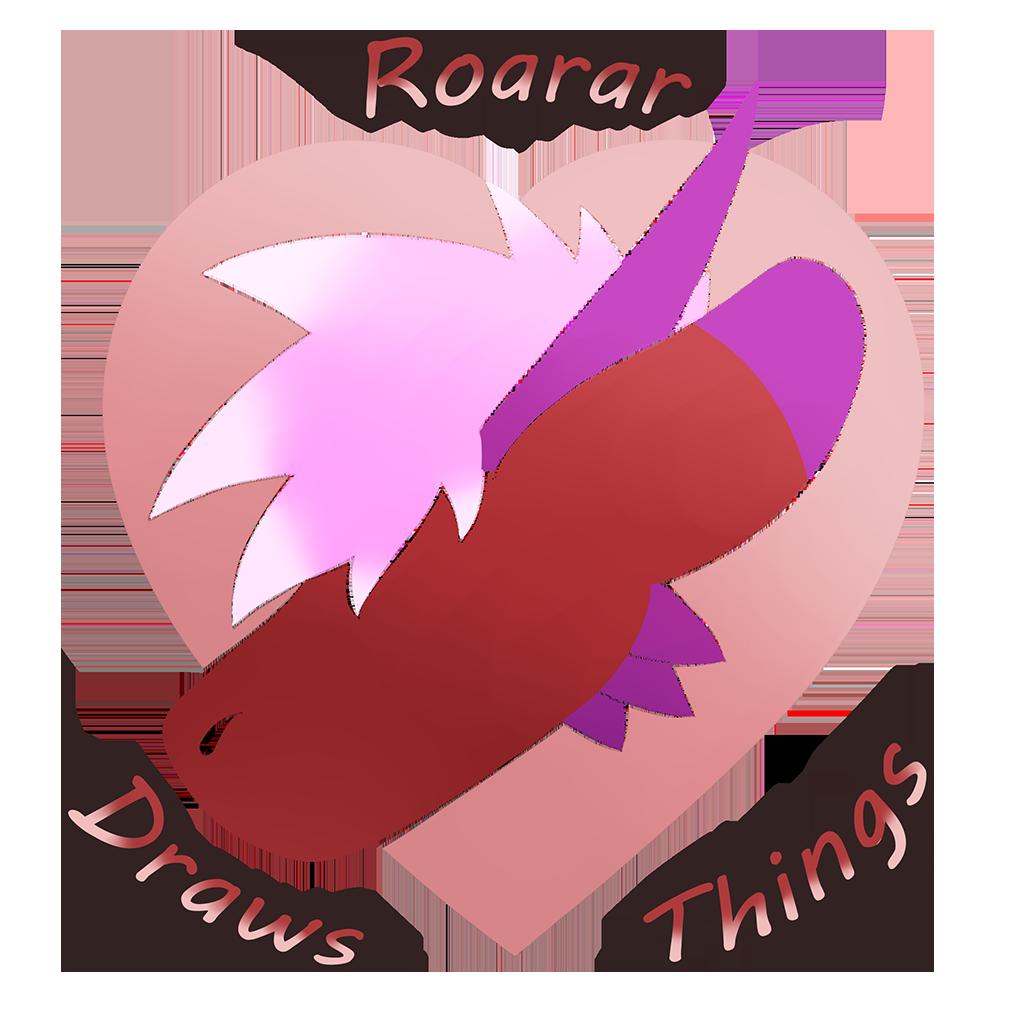Roarar Draws Things! [Art Commissions] Logosm10