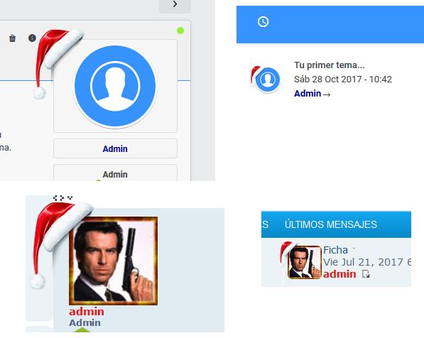 Gorro de Papa Noel, imágenes, iconos o distintivos sobre el avatar Captur10