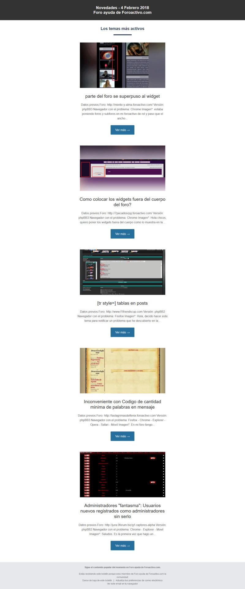 "Newsletter ""Contenido popular"" Noveda10"