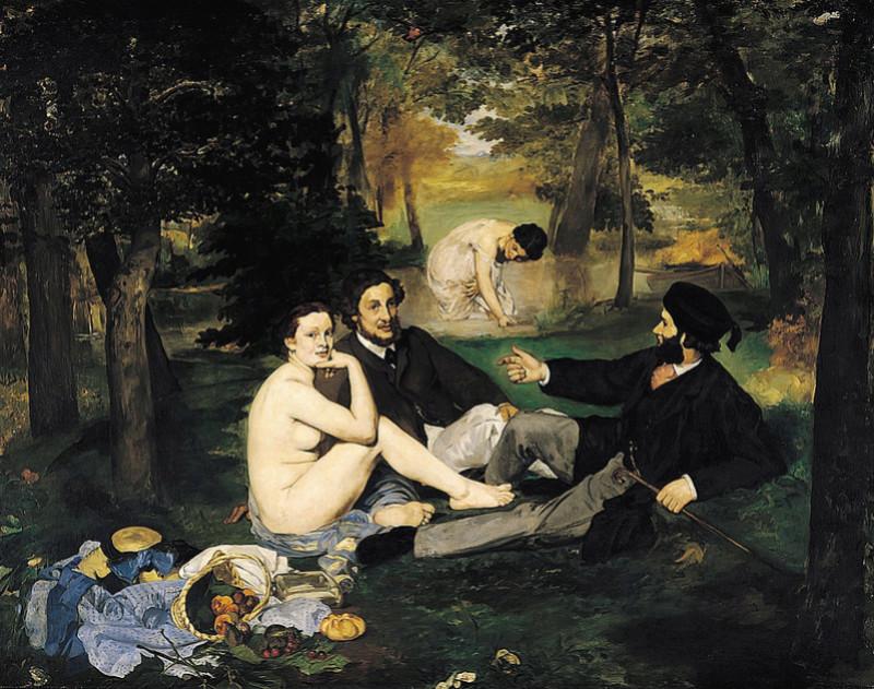 """Manet Edouard, """"Le déjeuner sur l'herbe"""" 1024px11"""
