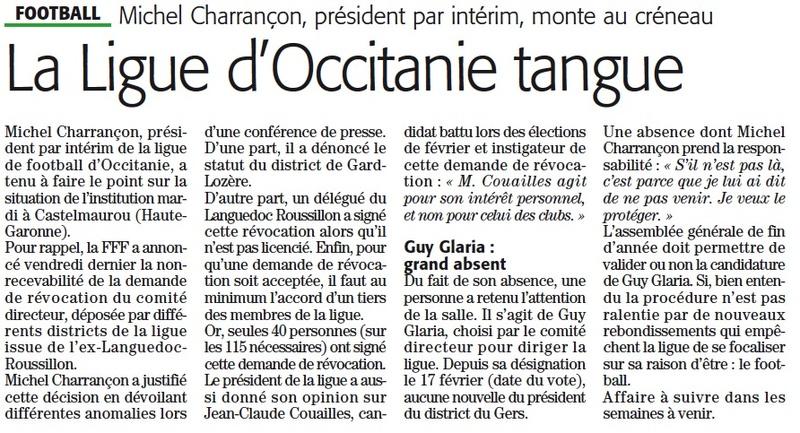 Auprès de la Ligue Occitanie Ligue211