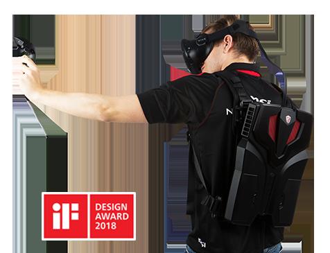 Le VR One, le sac à dos de réalité virtuelle de MSI, remporte un iF Design Award 2018 9f3a8410