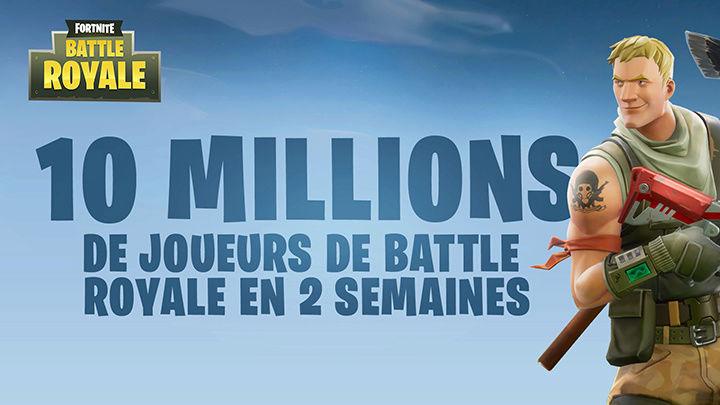 Le mode Battle Royale de Fortnite atteint les 10 millions de joueurs ! Fr-10m10