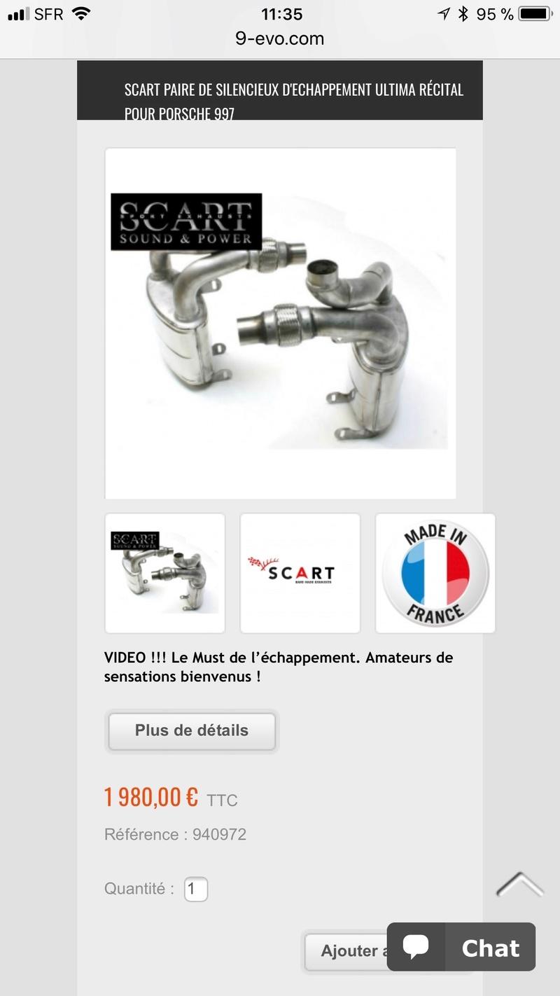 Échappements Scart Ultima Recital Neufs sans valves pour une 997 phase 1 3.6 ou 3.8 68477310