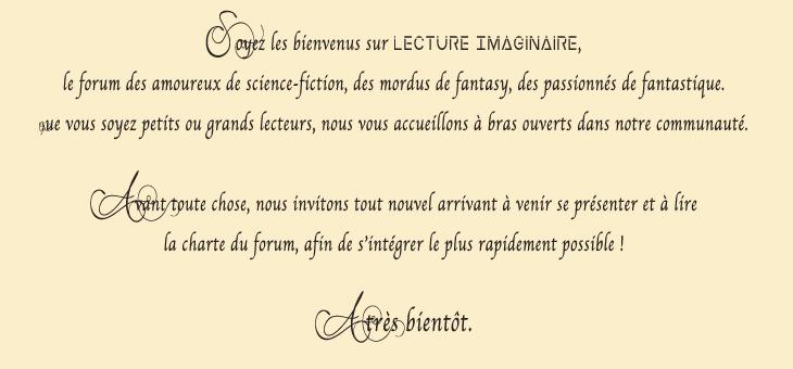 Lecture-Imaginaire : communauté de lecteur autour de la littérature de l'imaginaire qui rassemble les livres de science-fiction et fantasy