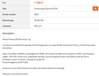 [FICHE] QUELLE MOTO POUR PISTER ???  Cb500c10