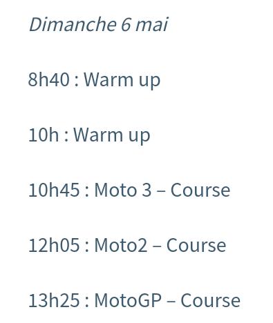 Horaires Motogp Jerez : pour ne rien rater ! Screen31