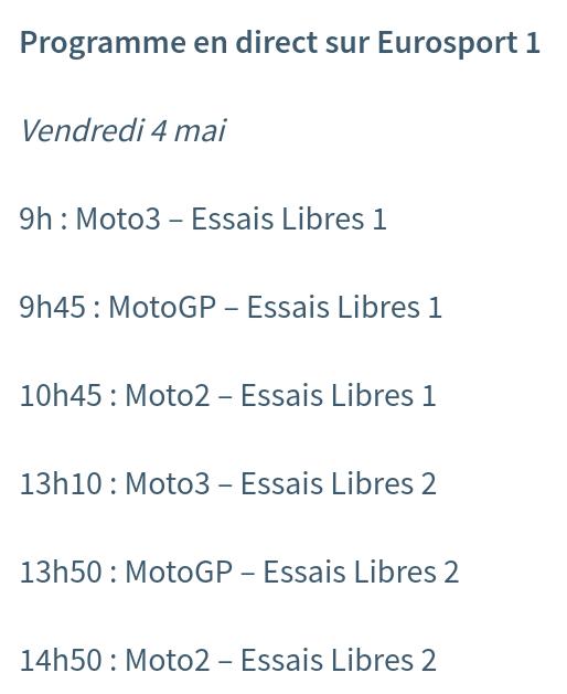 Horaires Motogp Jerez : pour ne rien rater ! Screen32