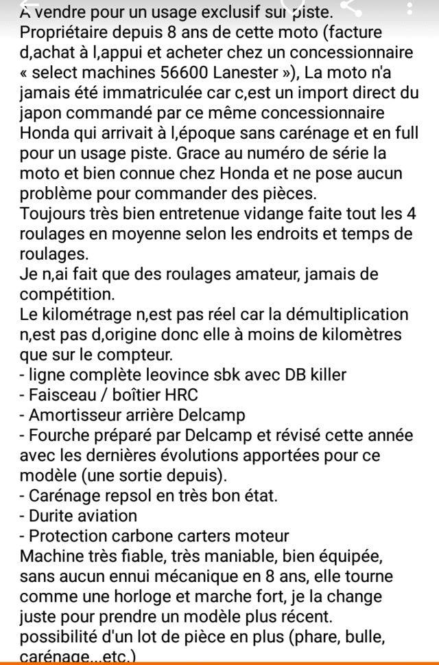 Les Annonces de Pistardes sélectionnées par Motopiste Screen40