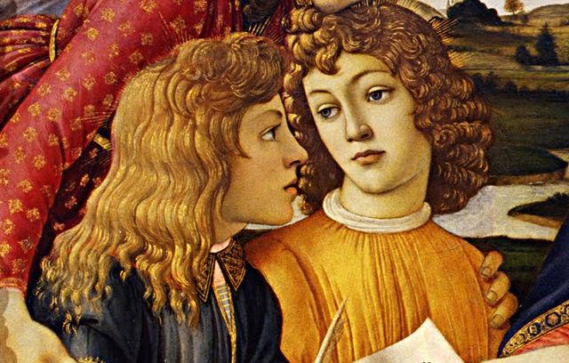 LA VIERGE AU MAGNIFICAT -- Sandro BOTTICELLI (v.1483) Couron11