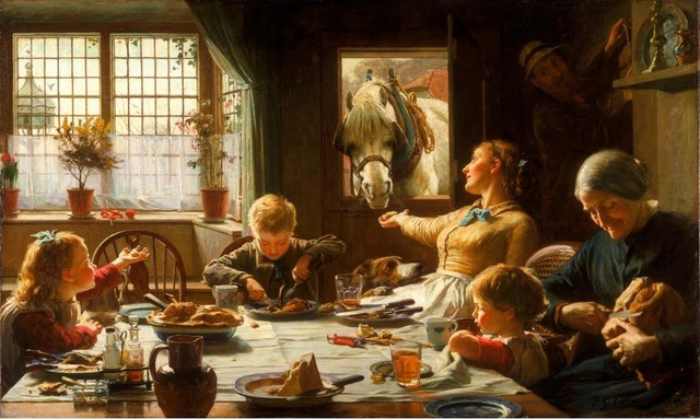 ONE OF THE FAMILY -- Frederick G. COTEMAN (1880) Dans_l10