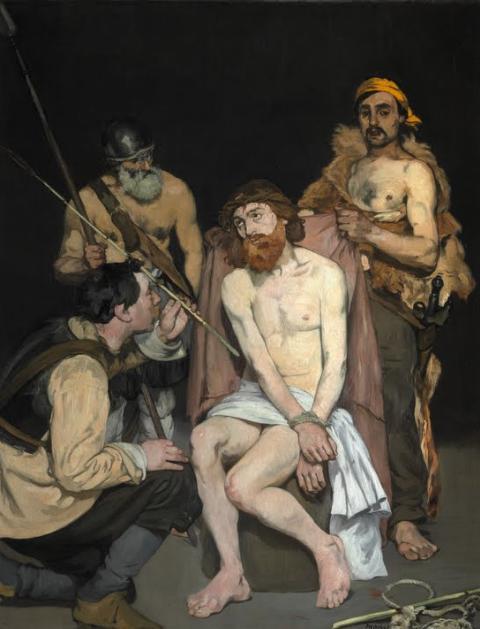 JESUS RAILLE PAR LES SOLDATS (Edouard MANET) Jysus_10