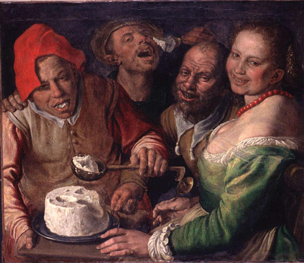 LES MANGEURS DE RICOTTA / Vincenzo CAMPI (mil. XVIe siècle) Les_ma10