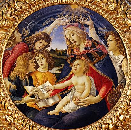 LA VIERGE AU MAGNIFICAT -- Sandro BOTTICELLI (v.1483) Vierge10