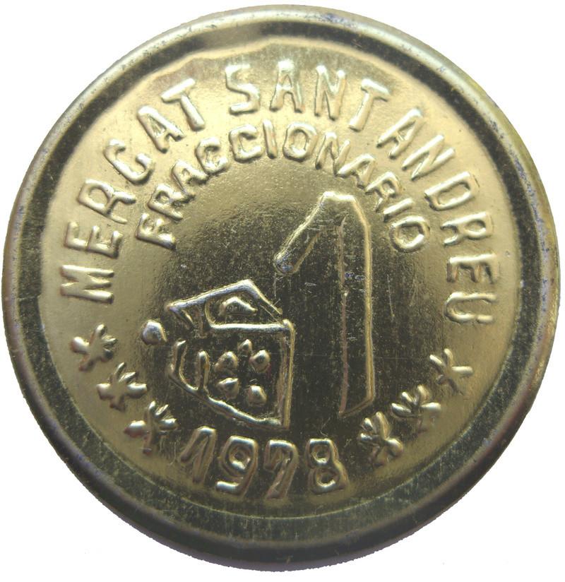 Moneda de necesidad. Mercat San Andreu Sdc13611