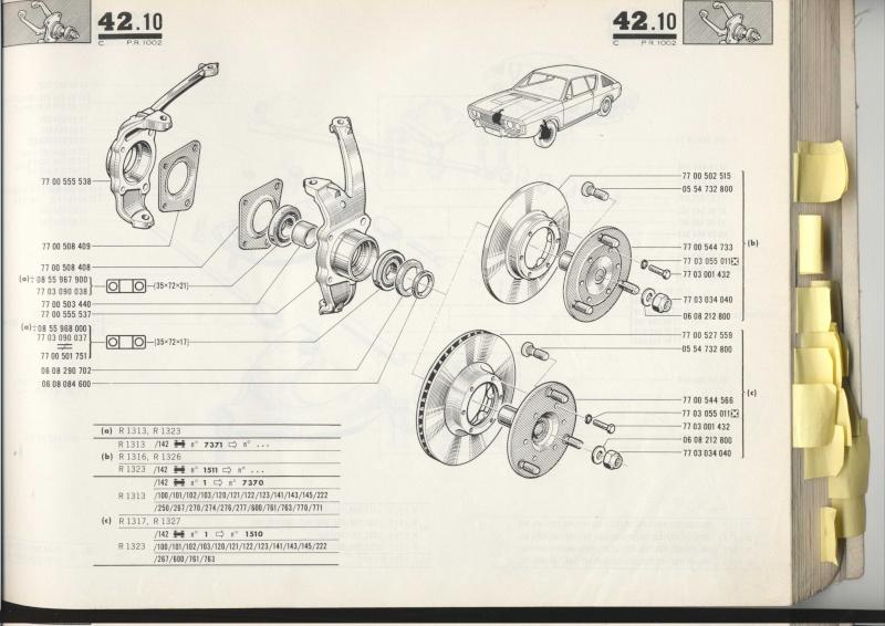 Pieces mechanique avant 17 TS/TL/G Pr100213