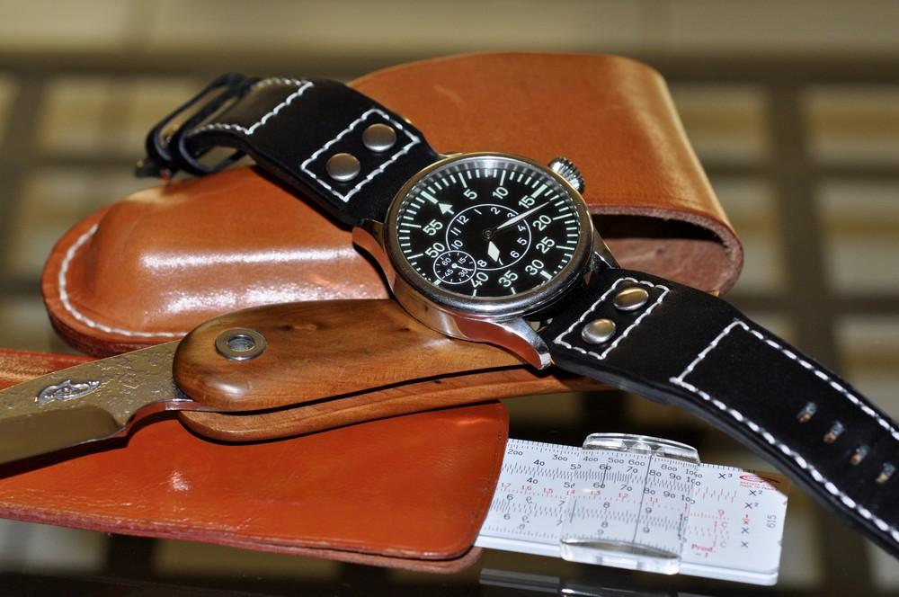Existe-t'il une montre avec règle à calcul fine et simple? Pilot010