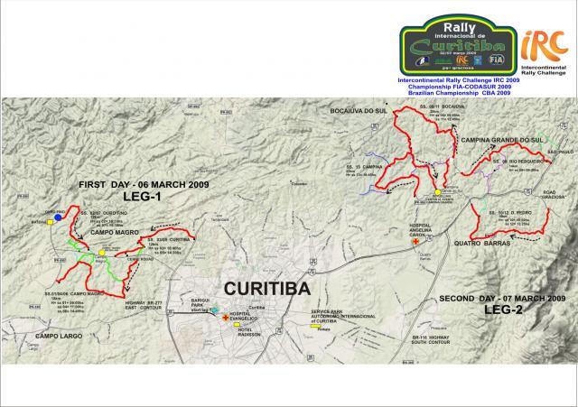 (IRC) Rally Internacional de Curitiba (Brazil) - 5-7 Mar 09  (info..........) Mapa-210