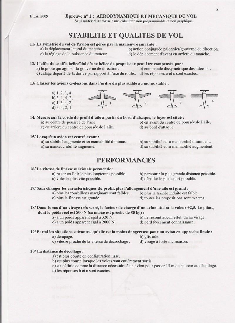 Sujets et corrigés  BIA 2009 Numari11