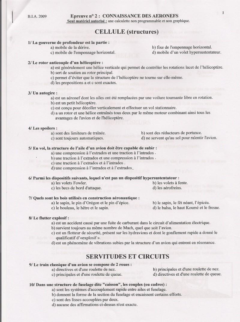 Sujets et corrigés  BIA 2009 Numari12