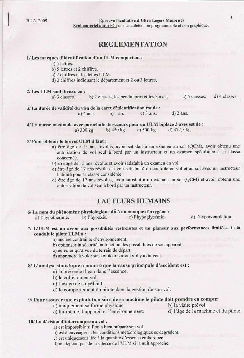 Sujets et corrigés  BIA 2009 Numari14