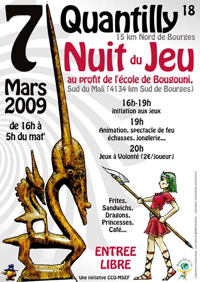 [07/03/09] Nuit du Jeu à Quantilly en faveur du Mali Affich11