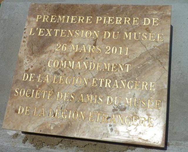 La Légion aura son grand Musée  en 2013 (Pose de la Premiere pierre) 1are_p10
