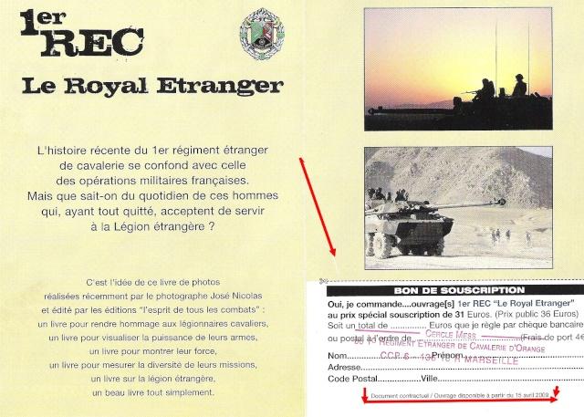 "Ouvrage "" 1 REC Royal Etrenger "" Livre10"