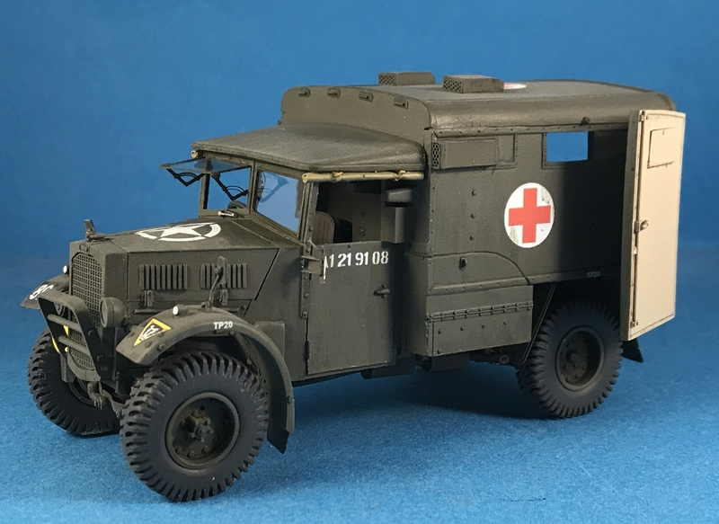 Humber FWD Ambulance Accurate Armour 1/35 Img_2915