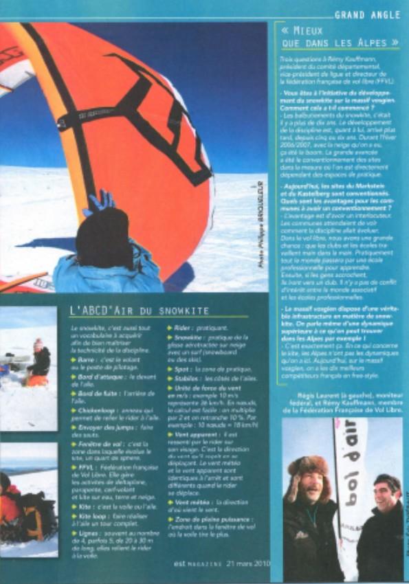 Reportage Snowkite dans Est Mag Sans_t15