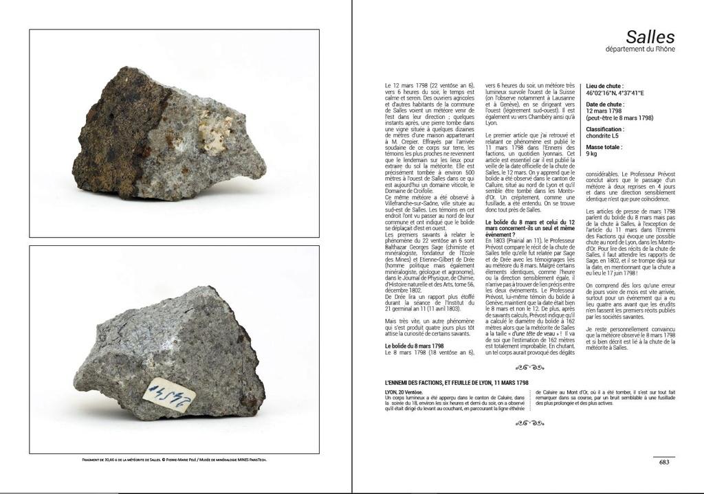 Encyclopédie des météorites françaises C110