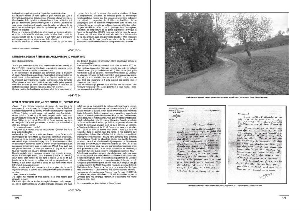 Encyclopédie des météorites françaises C210